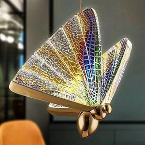 светильник The Magic Butterfly разноцветный 22 см
