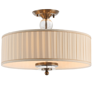 Потолочный светильник Detroit, Black brass Clear glass Shade beige D50*H38 cm