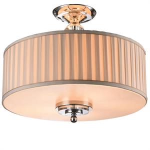 Потолочный светильник Detroit, Nickel Clear glass Shade beige D50*H38 cm