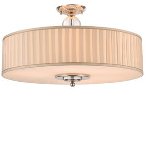 Потолочный светильник Detroit, Nickel Clear glass Shade beige D70*H43,5 см