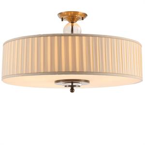 Потолочный светильник Detroit, Black brass Clear glass Shade beige D70*H43.5 cm