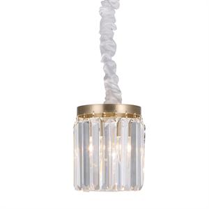 Подвесной светильник Portland, Brass Clear crystal D14*H18/118 cm
