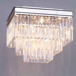 Потолочный светильник Portland, Nickel Clear crystal 40*40*H32 cm