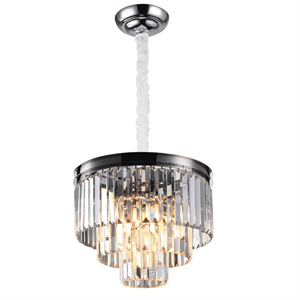 Подвесной светильник Portland, Nickel Clear crystal D40*H32/132 cm
