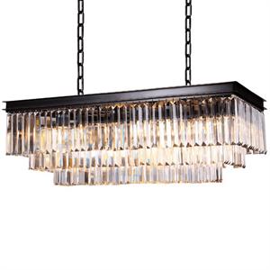 Подвесной светильник Portland, Black+gold Clear crystal 88*40*H35/135 cm