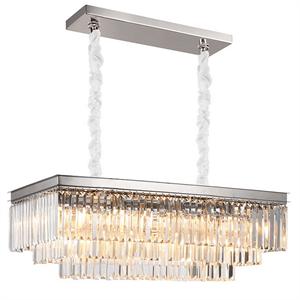 Подвесной светильник Portland, Nickel Clear crystal 88*40*H35/135 cm