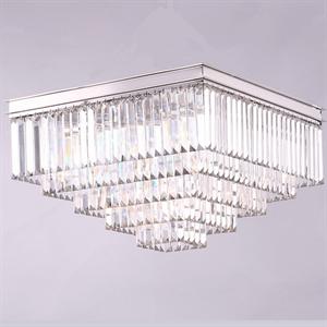 Потолочный светильник Portland, Nickel Clear crystal 60*60*H38 cm