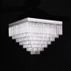 Потолочный светильник Portland, Nickel Clear crystal 80*80*H49 cm