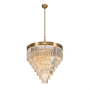 Подвесной светильник Portland, Brass Clear crystal D80*H57/157 cm