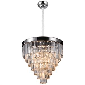 Подвесной светильник Portland, Nickel Clear crystal D80*H57/157 cm