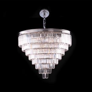 Подвесной светильник Portland, Nickel Clear crystal D110*H71 cm