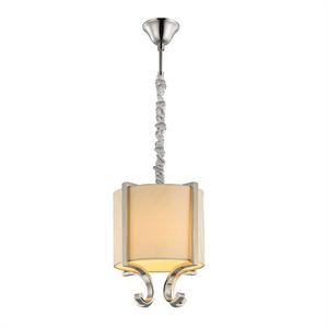Подвесной светильник Memphis, Nickel Crystal clear Shade beige D22*H31.5 cm