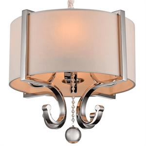 Подвесной светильник Memphis, Nickel Clear crystal Shade beige D40*H44/145 см