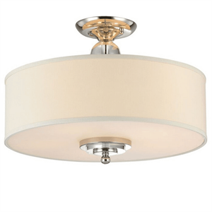 Потолочный светильник Memphis, Nickel Clear crystal Shade beige D50*H38 cm