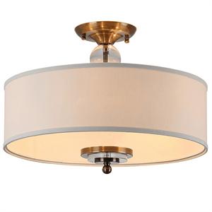 Потолочный светильник Memphis, Black brass Clear crystal Shade beige D50*H38 cm