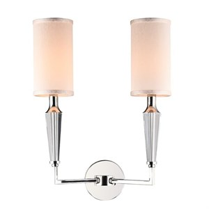 Бра Baltimore, Nickel Clear crystal Shade beige L38*H51*Sp21 сm