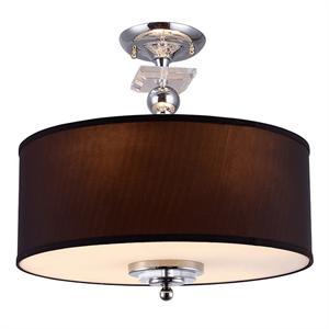 Потолочный светильник Atlanta, Chrome Clear crystal Coffee shade D50*H38 cm
