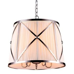Подвесной светильник Fresno, Nickel Shade white D45*H40 cm