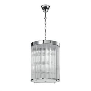 Подвесной светильник Kansas City, Chrome Clear glass D29*H38 сm