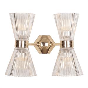 Бра Arlington, Light gold Shade clear glass L34*H26.5*Sp19.5 cm