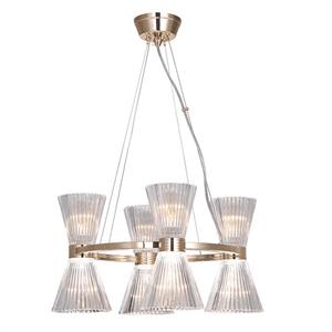 Подвесной светильник Arlington, Light gold Shade clear glass D50*H120 cm