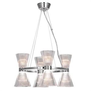 Подвесной светильник Arlington, Nickel Shade clear glass D50*H120 cm