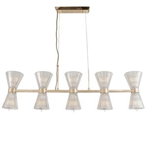 Подвесной светильник Arlington, Light gold Shade clear glass L106*14*H26.5 cm