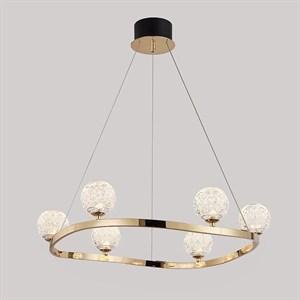 Подвесной светильник Wichita, Light gold Shade clear glass D72*H65/315 cm