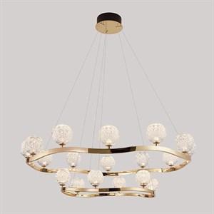 Подвесной светильник Wichita, Light gold Shade clear glass D116*H80/380 cm