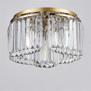 Потолочный светильник Lexington, Gold Clear glass D40*H23.5 cm