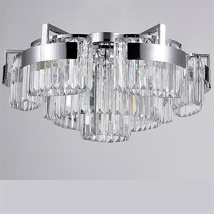 Потолочный светильник Lexington, Chrome Clear glass D86*H36