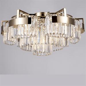 Потолочный светильник Lexington, Gold Clear glass D86*H36 cm