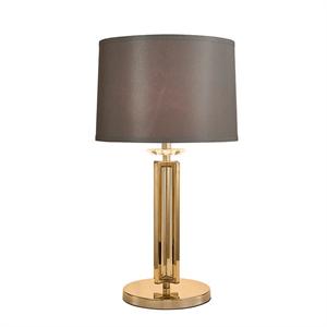 Настольная лампа Pittsburgh, Gold Clear crystal D40*H88 cm БЕЗ АБАЖУРОВ