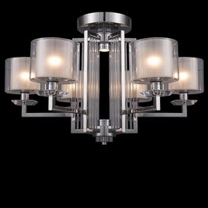 Потолочный светильник Pittsburgh, Chrome Clear crystal Clear glass D75*H45 cm