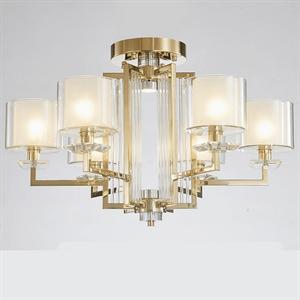 Потолочный светильник Pittsburgh, Gold Clear crystal Clear glass D75*H45 cm