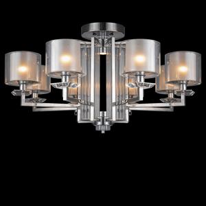 Потолочный светильник Pittsburgh, Chrome Clear crystal Clear glass D87*H45 cm
