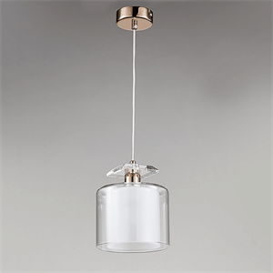 Подвесной светильник Pittsburgh, Black nickel Clear crystal Clear glass D15*H19/269 cm