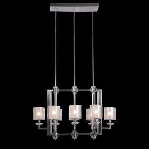 Подвесной светильник Pittsburgh, Chrome Clear crystal Clear glass 107*56*H56 cm
