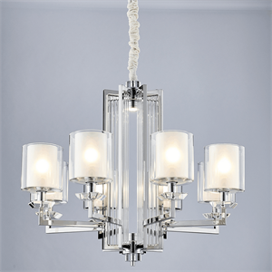 Люстра Pittsburgh, Chrome Clear crystal Clear glass D87*H53 cm