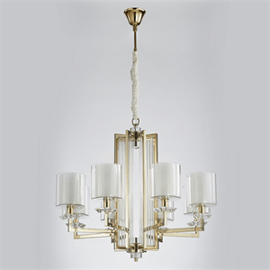 Люстра Pittsburgh, Gold Clear crystal Clear glass D87*H53 cm
