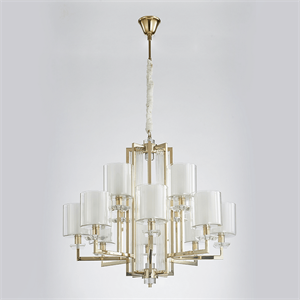 Люстра Pittsburgh, Gold Clear crystal Clear glass D91*H57 cm