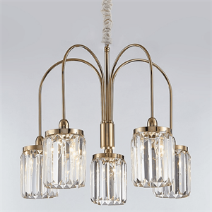 Люстра Greensboro, Gold Clear glass D60*H45 cm