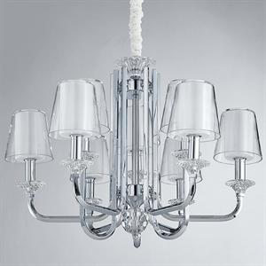 Люстра Lincoln, Chrome Glass clear/matt white D75,5*H56 cm