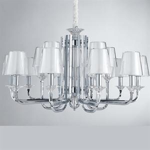 Люстра Lincoln, Chrome Glass clear/matt white D102*H47 cm