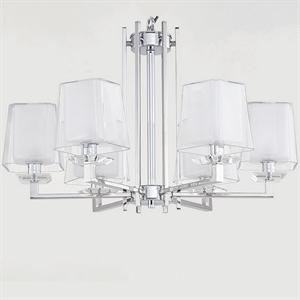 Люстра Reno, Chrome Glass clear/matt white D70*H45 cm