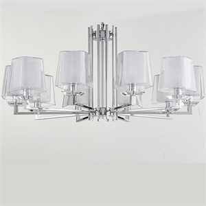 Люстра Reno, Chrome Glass clear/matt white D96*H45 cm