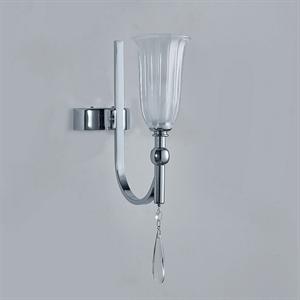Бра Anchorage, Chrome Clear crystal Matt white glass L10*H27*Sp15 cm