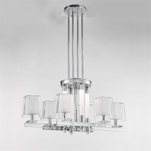 Подвесной светильник Plano, Nickel Glass clear/matt white L86*43.5*H42 cm