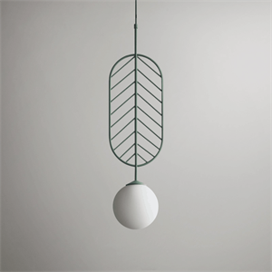 Светильник LEAF тип C зеленый