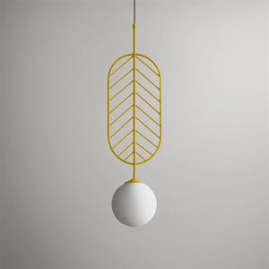 Светильник LEAF тип C желтый
